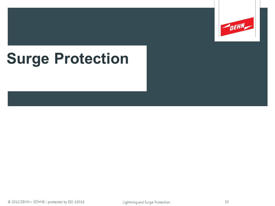© 2012 DEHN + SÖHNE / protected by ISO 16016 Lightning and Surge Protection household appliances rated voltage withstand voltage 6 kV 4 kV 2.5 kV 1.5