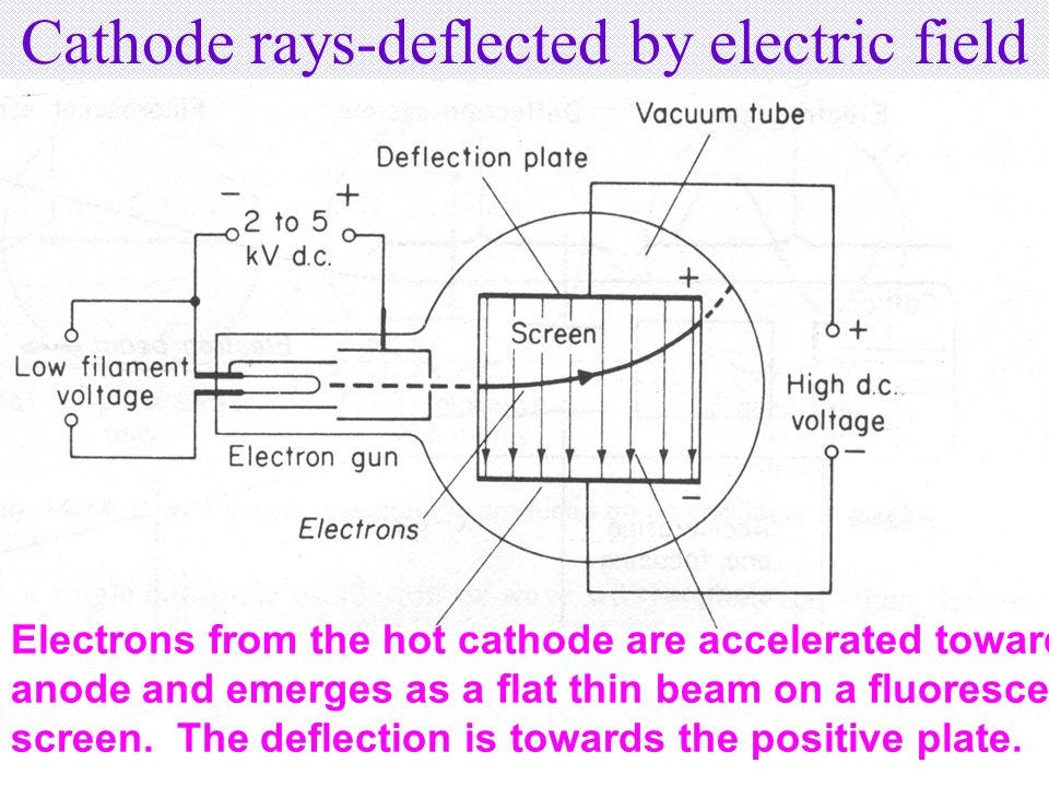 Cathode Rays Convey Negative Charges Cathode rays cause a build up of charges on the Faraday cylinder, which is indicated by a divergence of the electroscope.