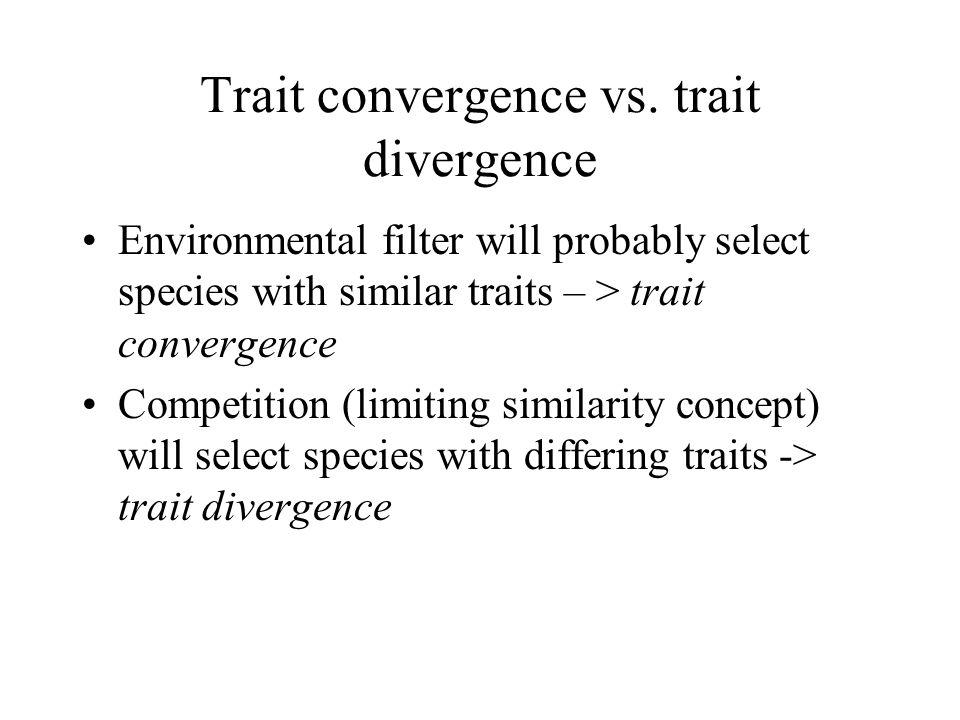 Trait convergence vs.