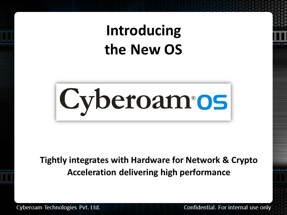 Introducing the New OS Tightly integrates with Hardware for Network & Crypto Acceleration delivering high performance Confidential.