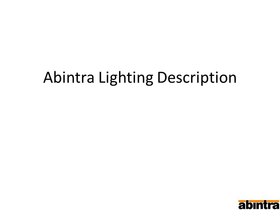 Abintra Lighting Description