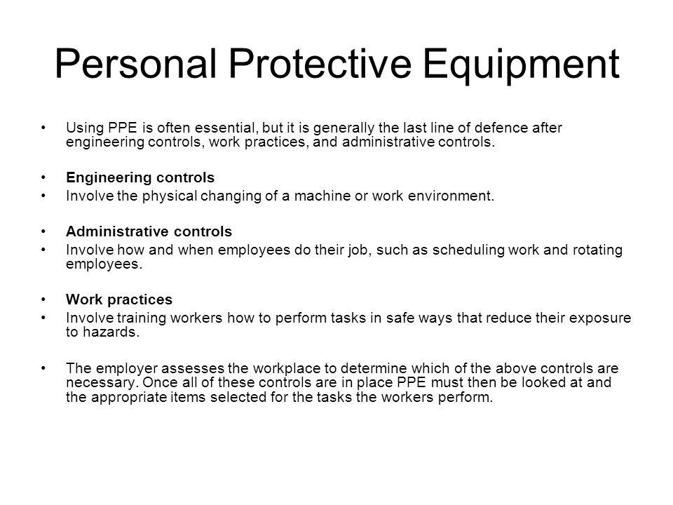 P.P.E. – Eye protection