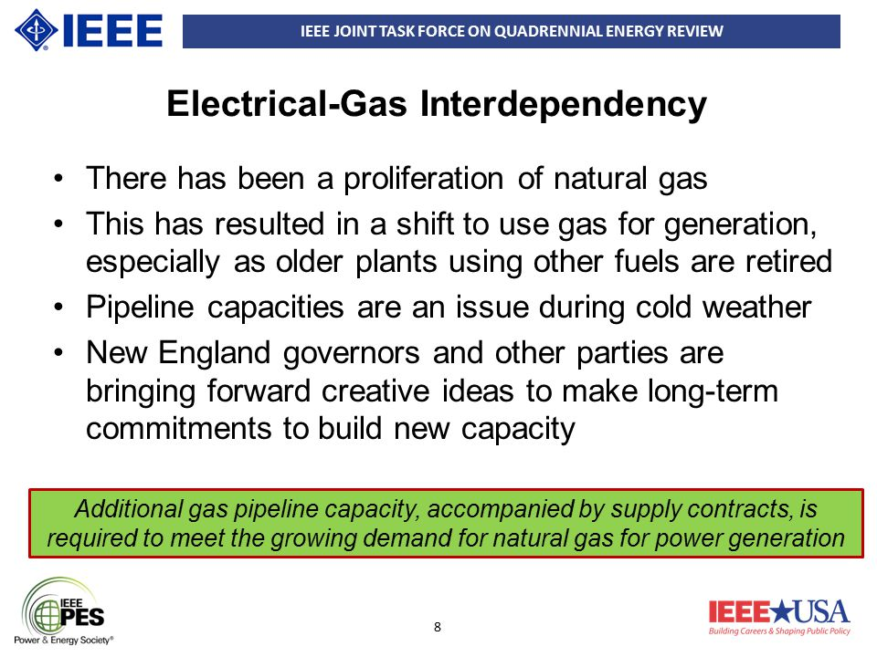 IEEE JOINT TASK FORCE ON QUADRENNIAL ENERGY REVIEW 9 Security needs Physical Security –Transmission Equipment –System Security: Preventing system impact and Protecting critical substations –Standards Cyber Security