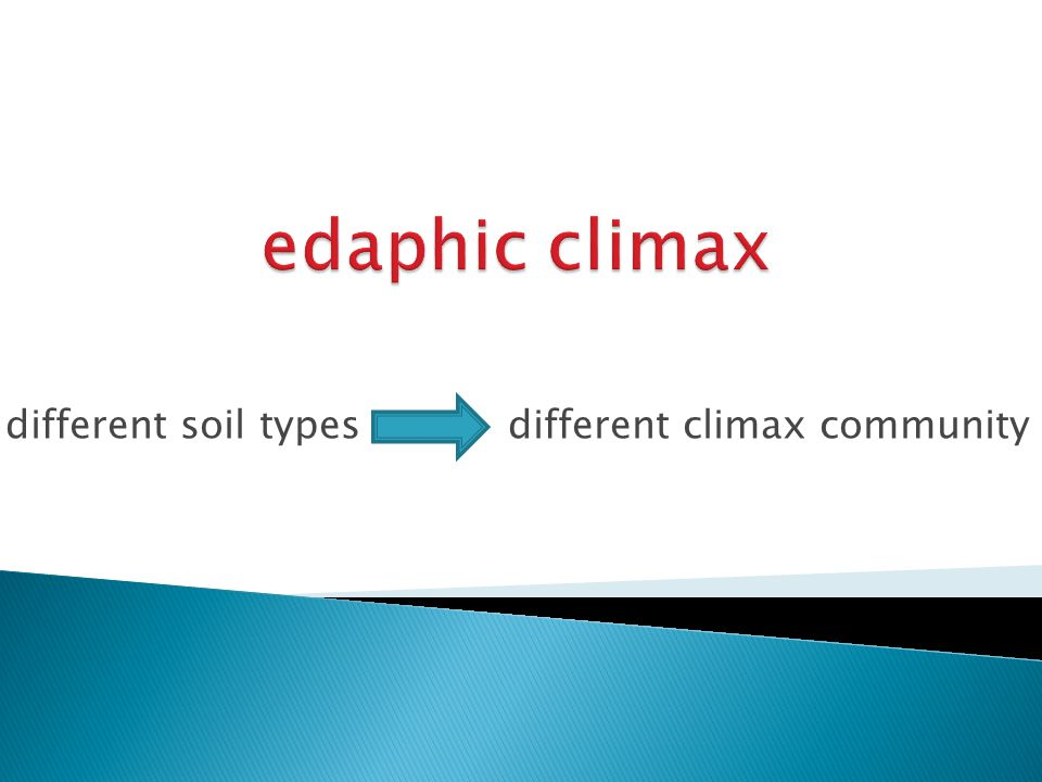 different soil types different climax community