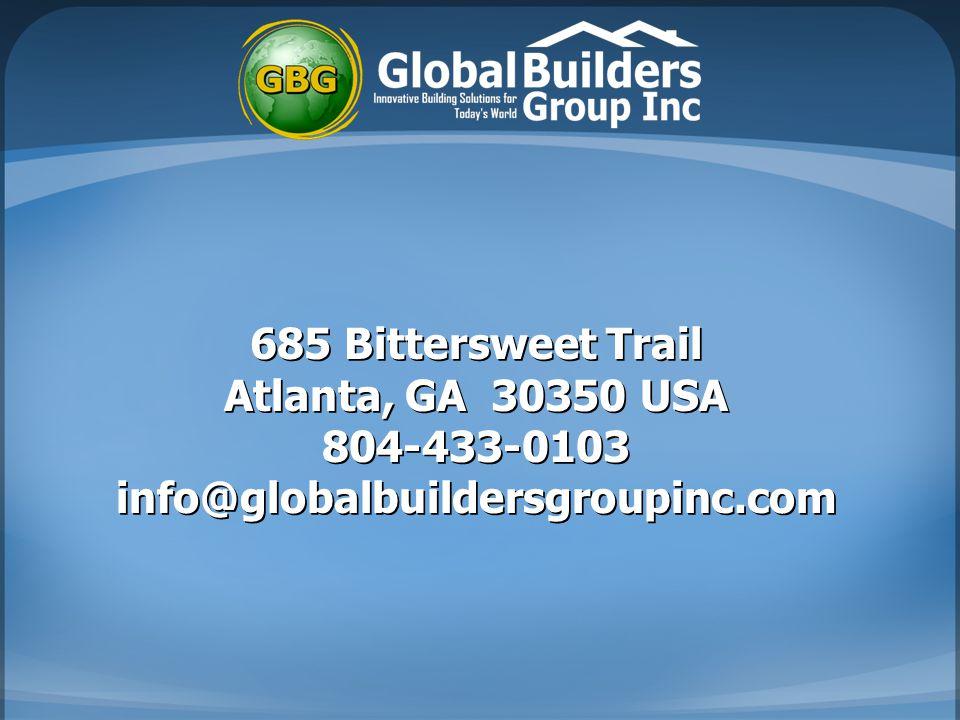 685 Bittersweet Trail Atlanta, GA 30350 USA 804-433-0103 info@globalbuildersgroupinc.com