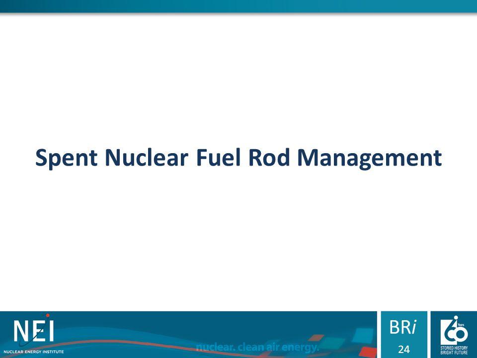 Spent Nuclear Fuel Rod Management BRi 24