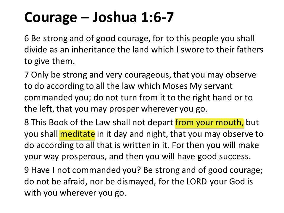 Example of Joshua Promise of God Fulfilled (Josh.21:43-45).