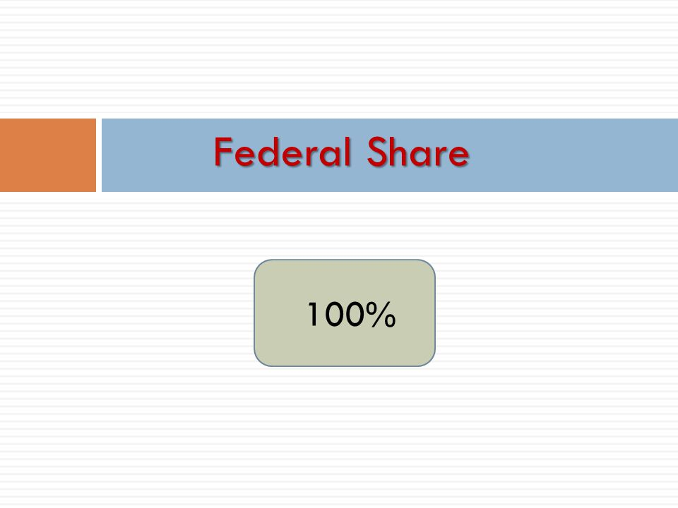 100% Federal Share