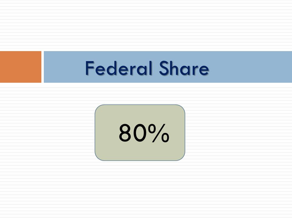 80% Federal Share