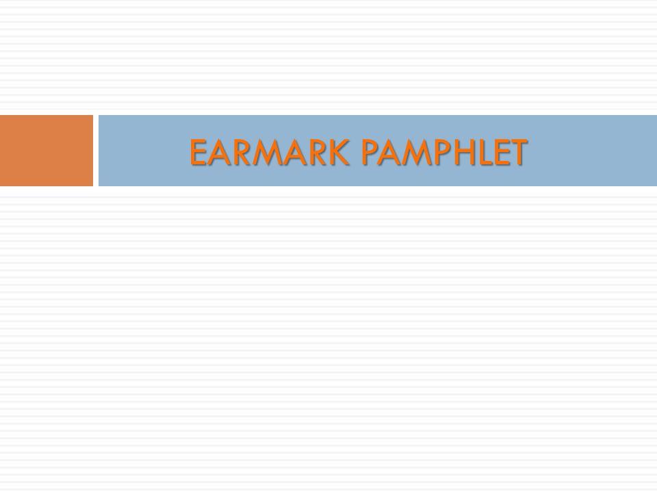 EARMARK PAMPHLET