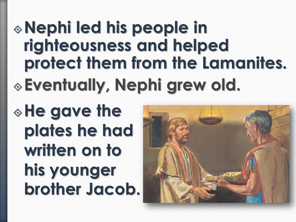 """Lesson 8: The Prophet Jacob Is Confronted by Sherem,"" Primary 4: Book of Mormon, (1997),25 Adaptation from ""A New Home in the Promised Land,"" Book of"