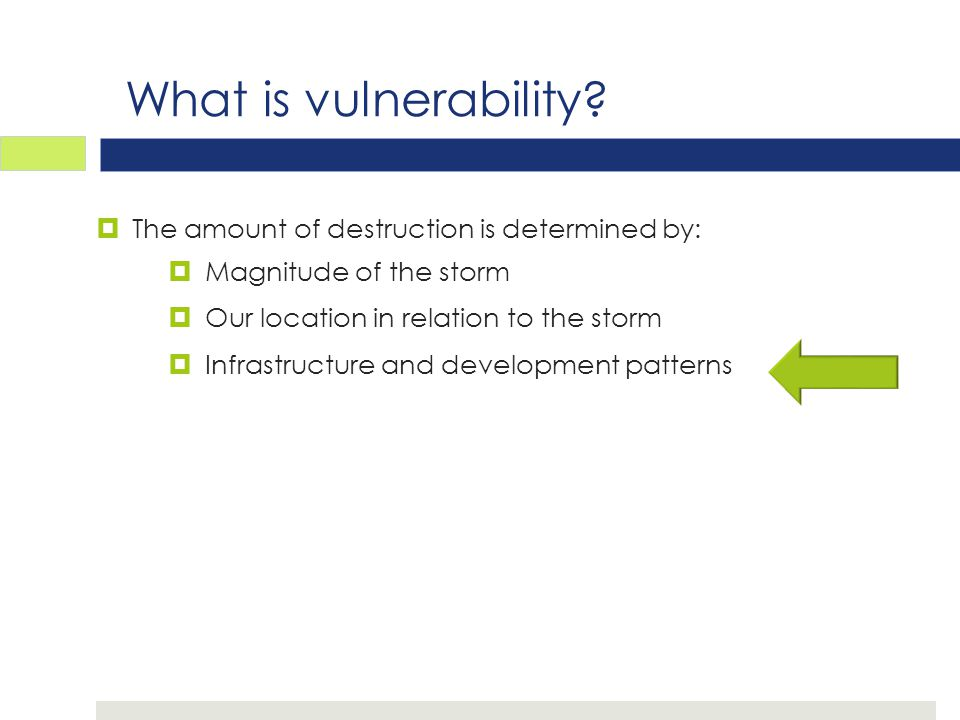 What is vulnerability.