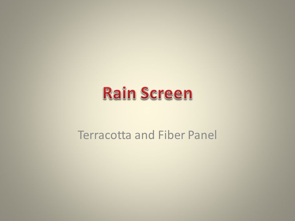 Terracotta and Fiber Panel