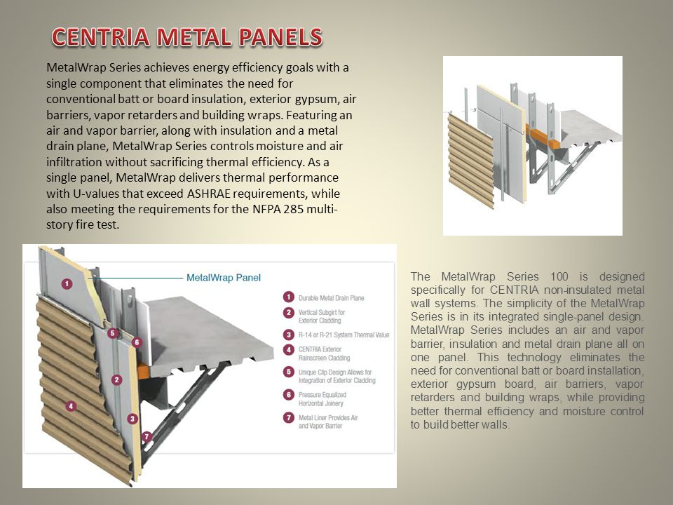 MetalWrap Series achieves energy efficiency goals with a single component that eliminates the need for conventional batt or board insulation, exterior gypsum, air barriers, vapor retarders and building wraps.