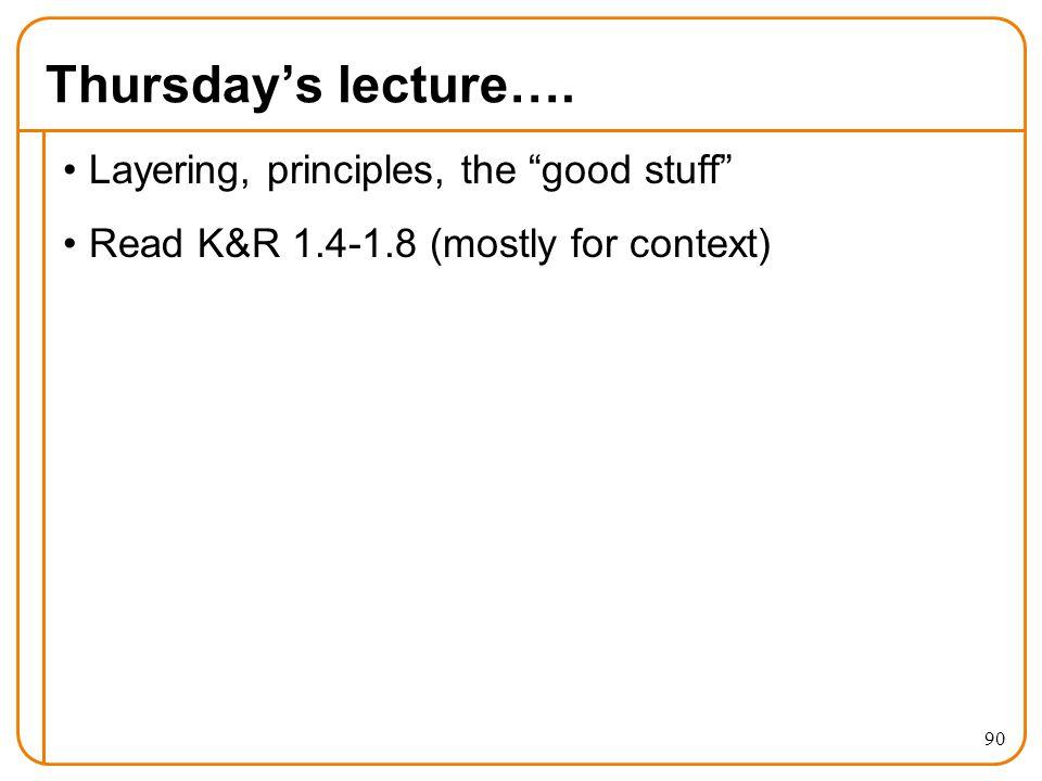 Thursday's lecture….