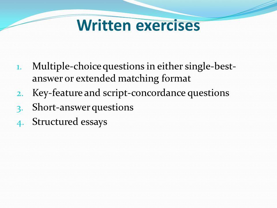 Written exercises 1.