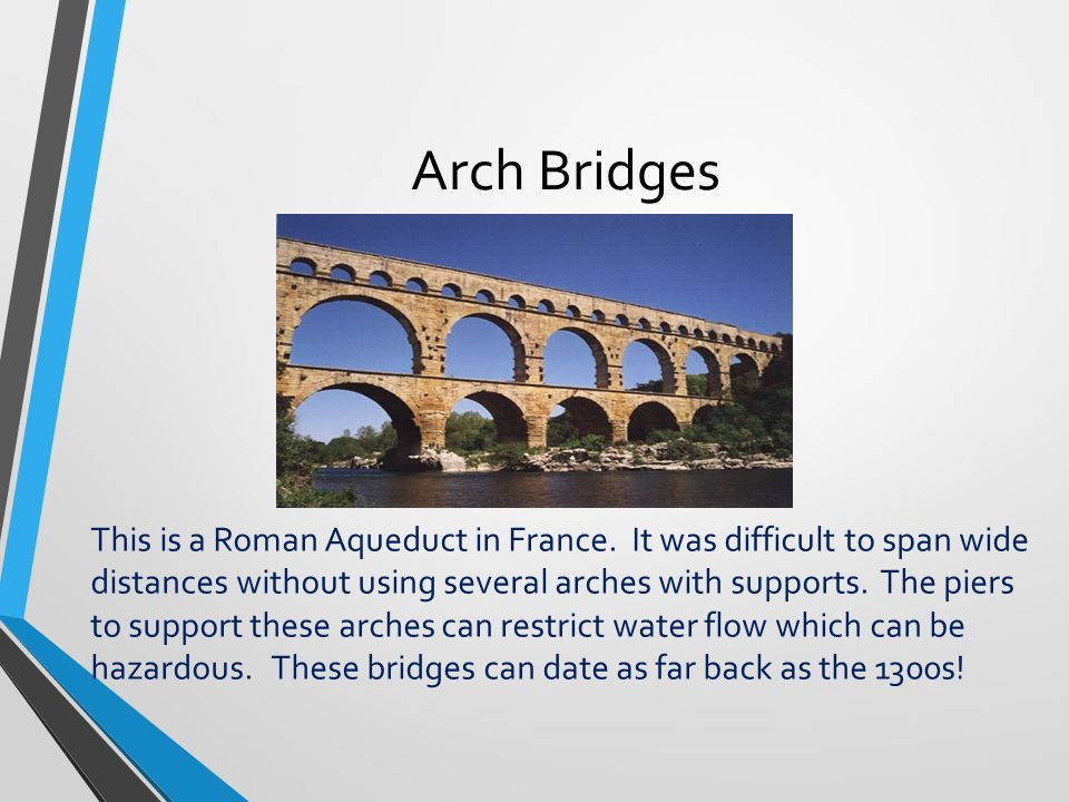 Arch Bridges This bridge is located in Southern California. A modern arch bridge.....