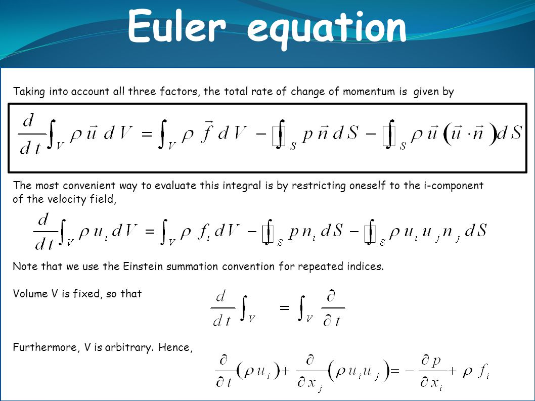 Taking into account all three factors, the total rate of change of momentum is given by The most convenient way to evaluate this integral is by restri