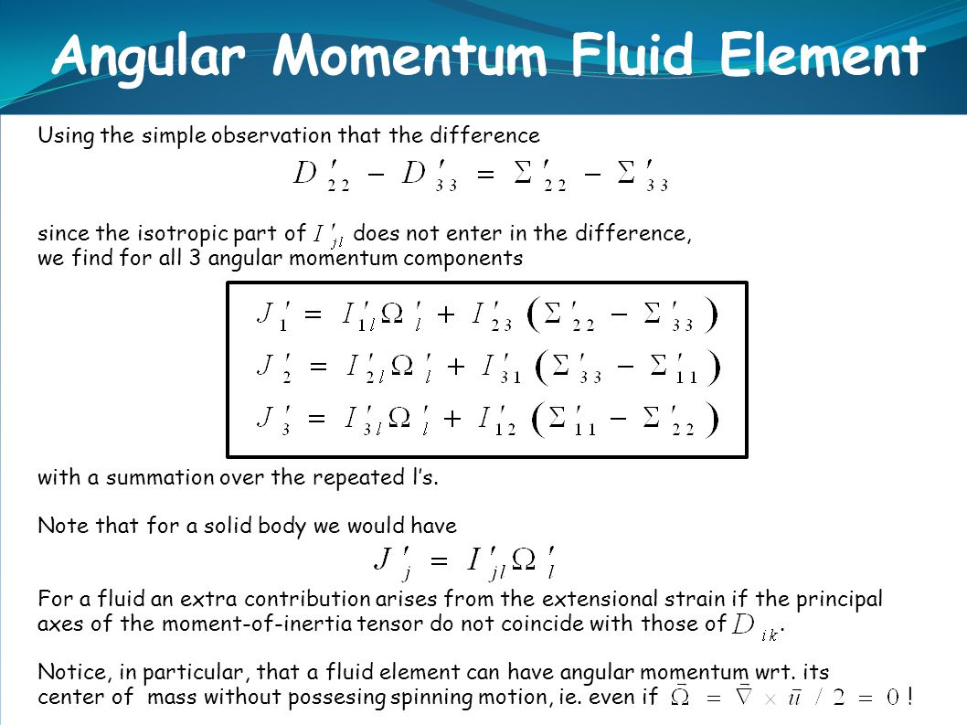 Using the simple observation that the difference since the isotropic part of does not enter in the difference, we find for all 3 angular momentum comp
