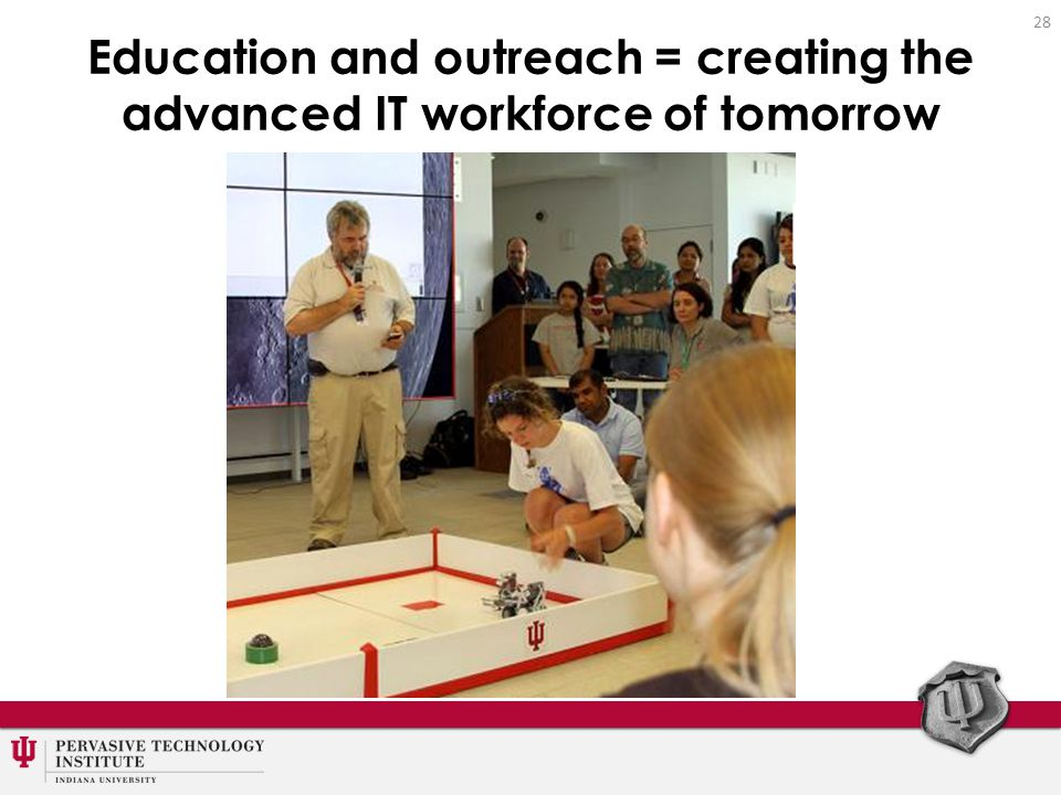 Education and outreach = creating the advanced IT workforce of tomorrow 28
