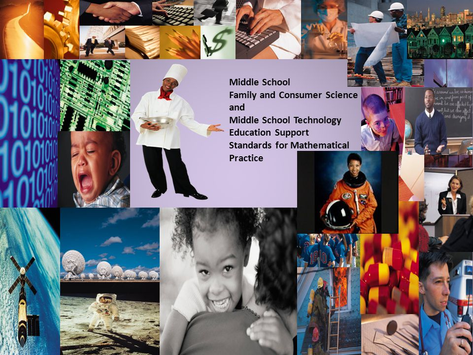 Middle School Family and Consumer Science and Middle School Technology Education Support Standards for Mathematical Practice