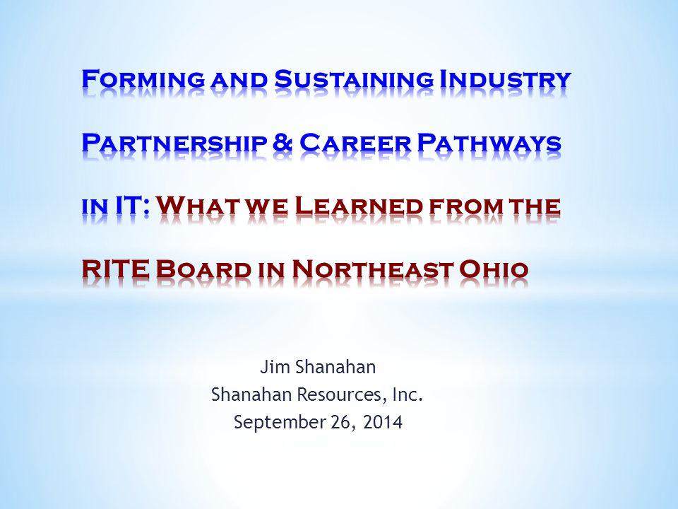 Jim Shanahan Shanahan Resources, Inc. September 26, 2014