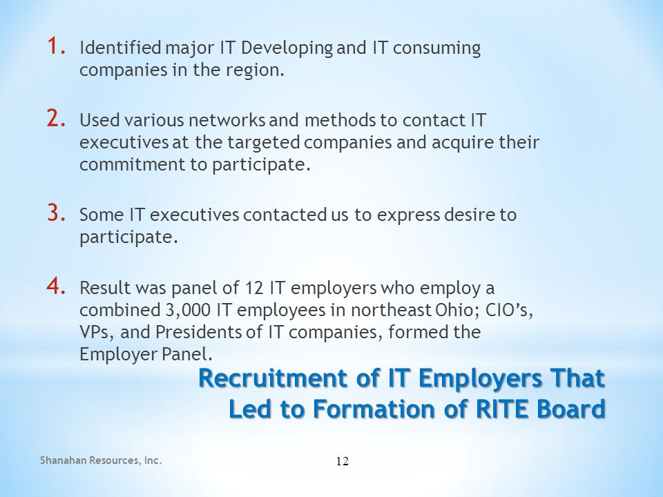 1.Focus on the dynamics of demand for IT workers which they have in common 2.