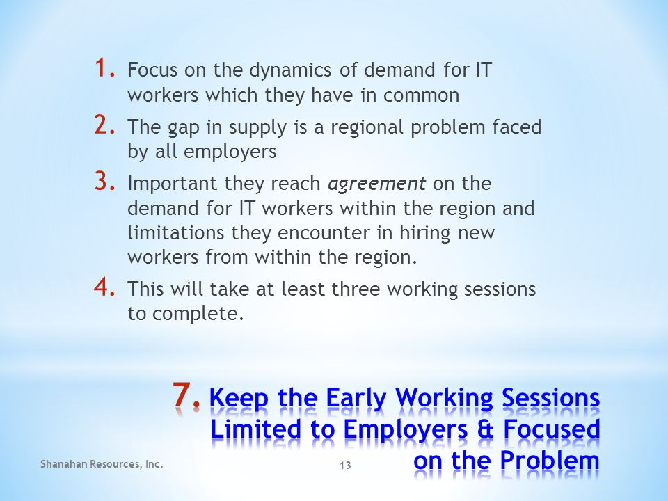 1. Focus on the dynamics of demand for IT workers which they have in common 2.