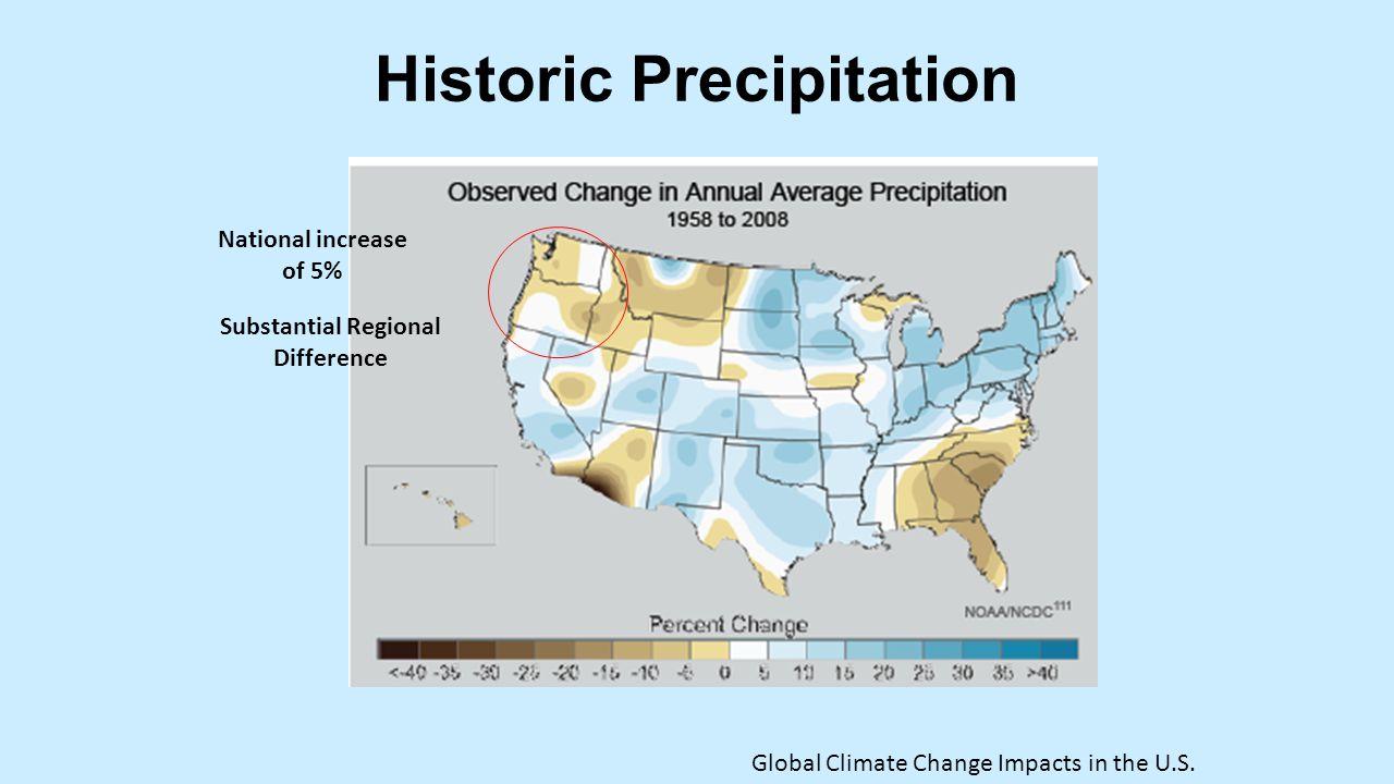 Historic Precipitation Global Climate Change Impacts in the U.S.