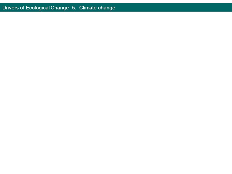 Drivers of Ecological Change- 5. Climate change