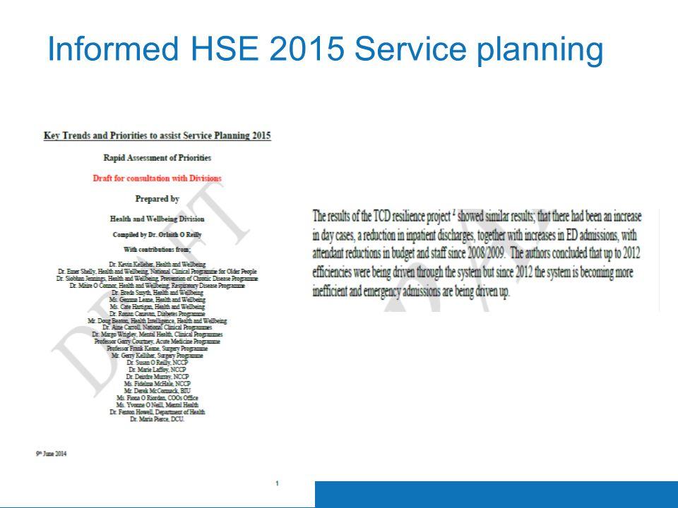 Informed HSE 2015 Service planning
