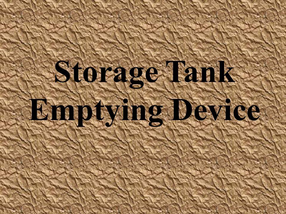 Storage Tank Emptying Device