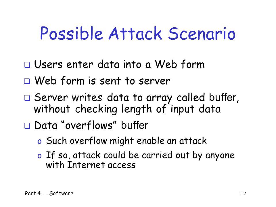Part 4  Software 11 Buffer Overflow