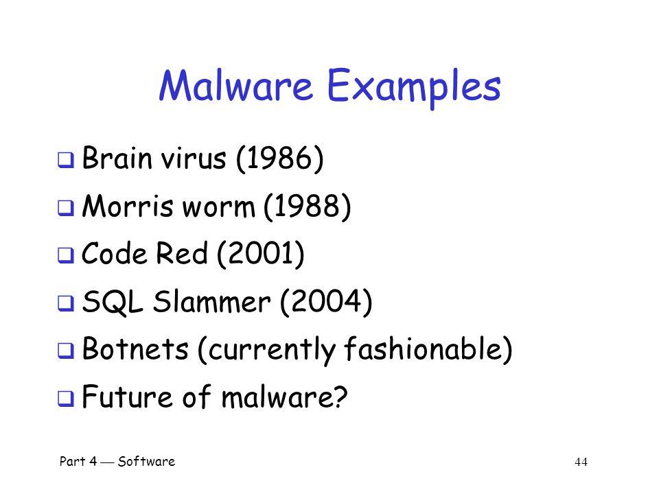 Part 4  Software 43 Where do Viruses Live.