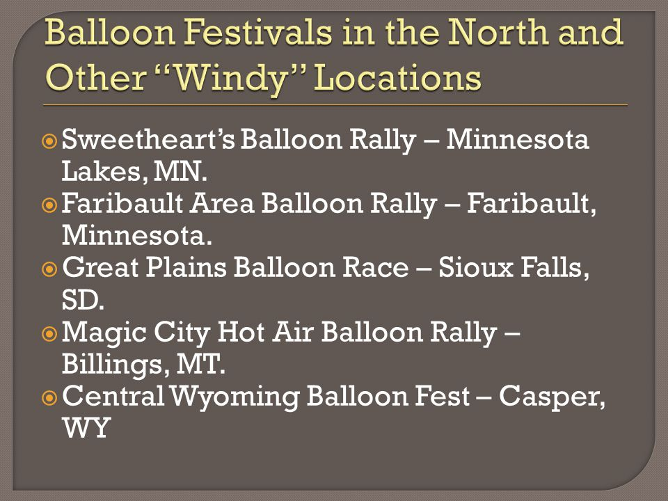  Sweetheart's Balloon Rally – Minnesota Lakes, MN.