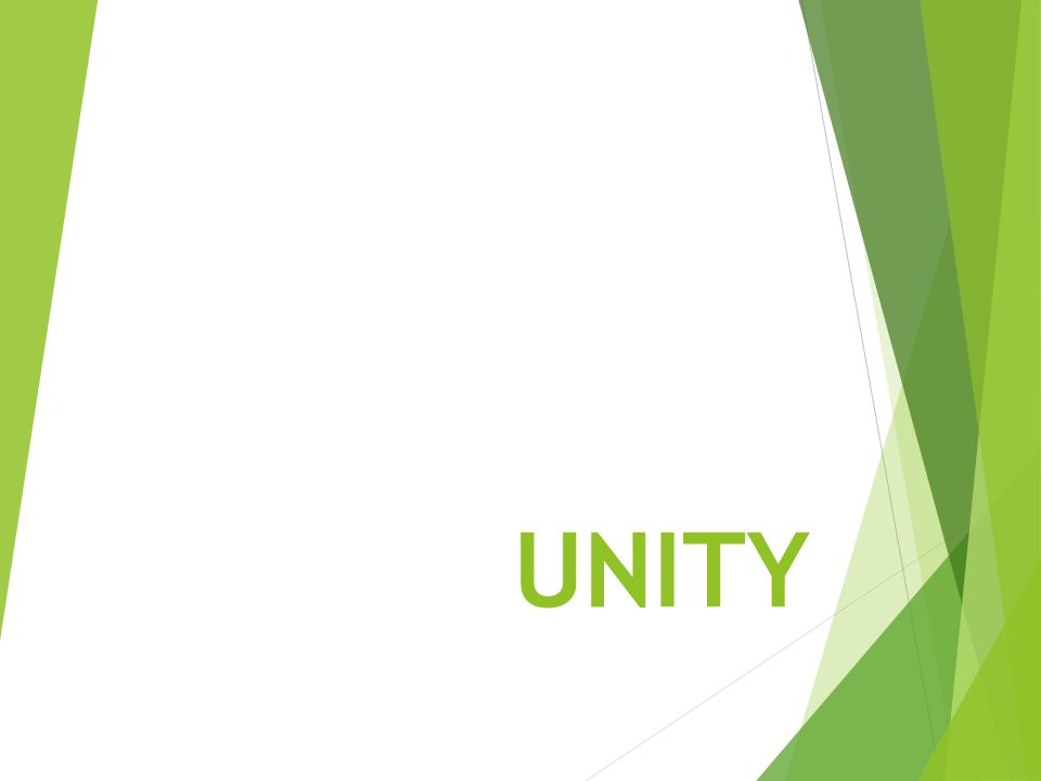Unity is appreciating the beauty of diversity