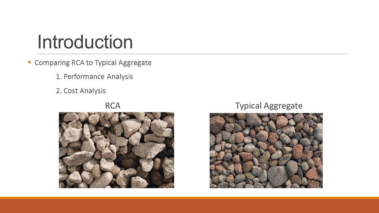 Introduction  Comparing RCA to Typical Aggregate 1.
