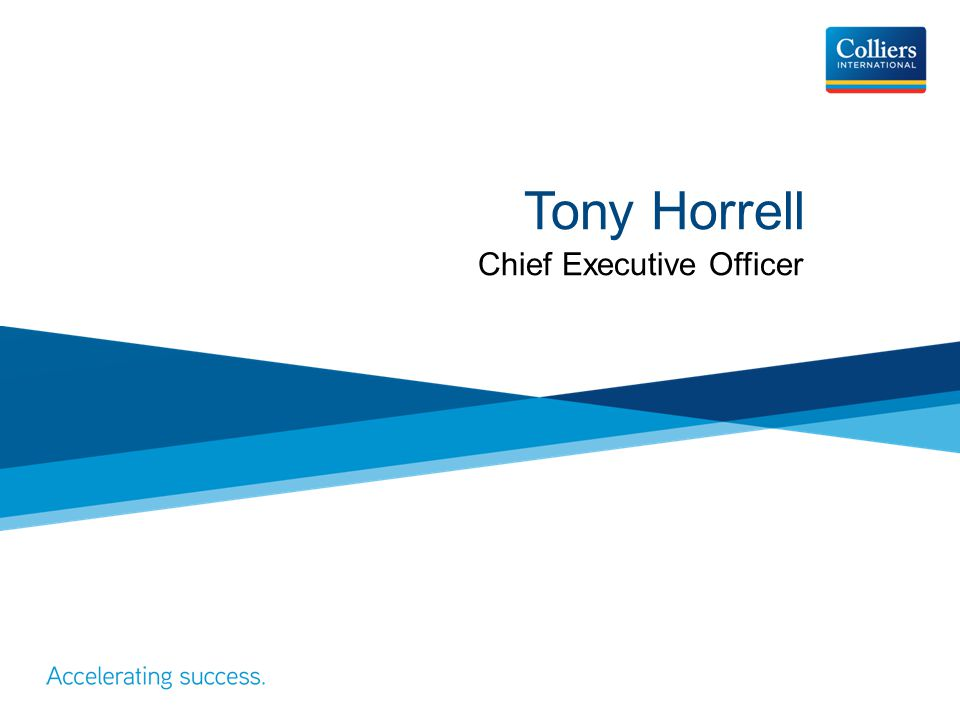 Tony Horrell Chief Executive Officer