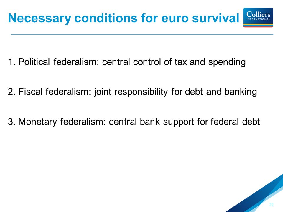 Necessary conditions for euro survival 1.