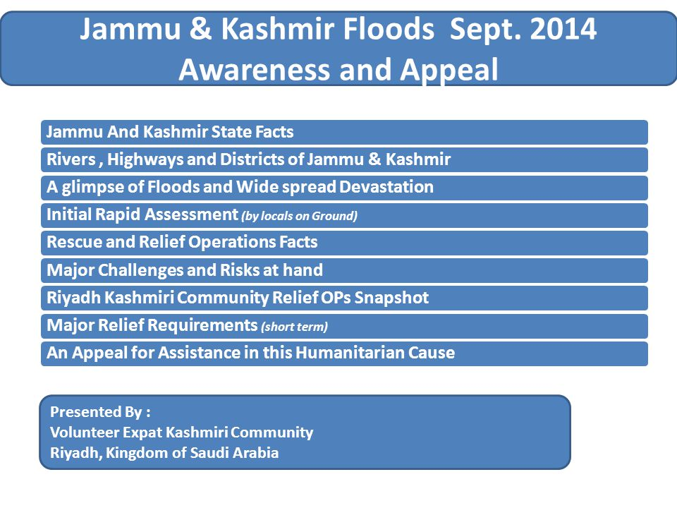 Jammu & Kashmir Floods Sept.