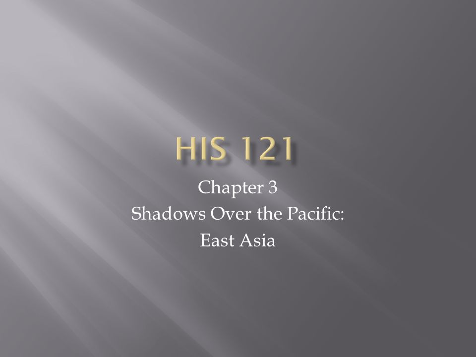 Chapter 3 Shadows Over the Pacific: East Asia