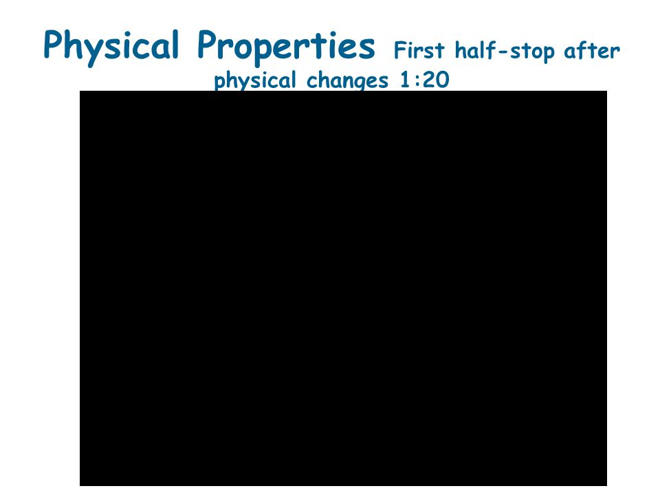 12.1 Properties of Solids  A physical change is any change in the size, shape, or phase of matter in which the identity of a substance does not change.
