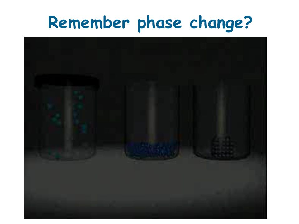 Remember phase change?