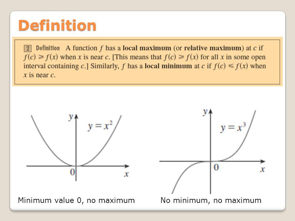 Definition Minimum value 0, no maximumNo minimum, no maximum