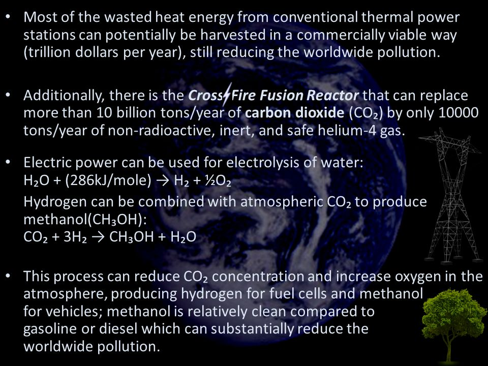 Most of the wasted heat energy from conventional thermal power stations can potentially be harvested in a commercially viable way (trillion dollars per year), still reducing the worldwide pollution.