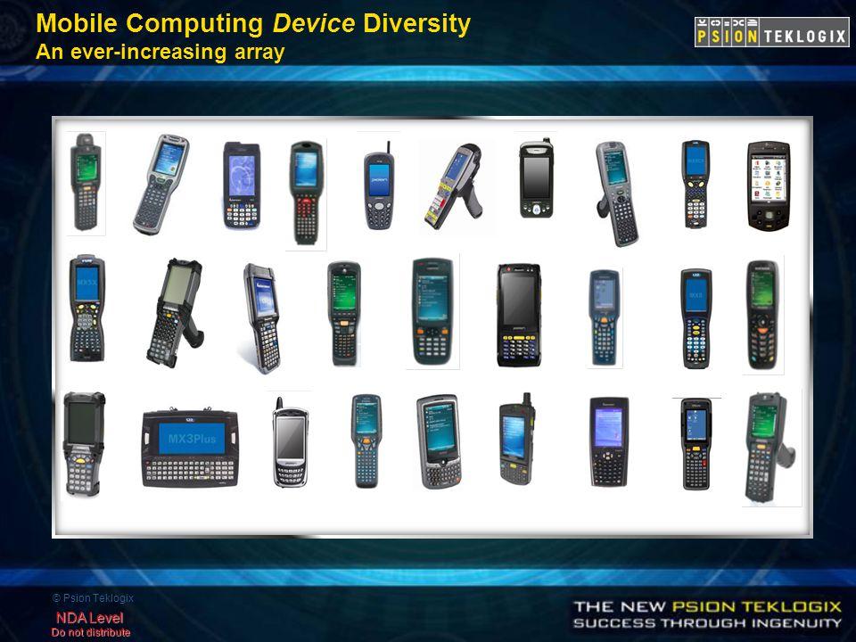 © Psion Teklogix NDA Level Do not distribute Mobile Computing Device Diversity An ever-increasing array
