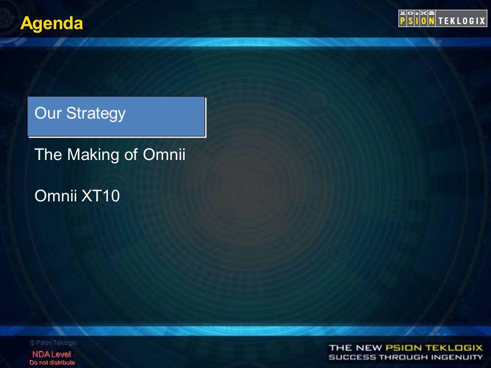 © Psion Teklogix NDA Level Do not distribute Agenda Our Strategy The Making of Omnii Omnii XT10