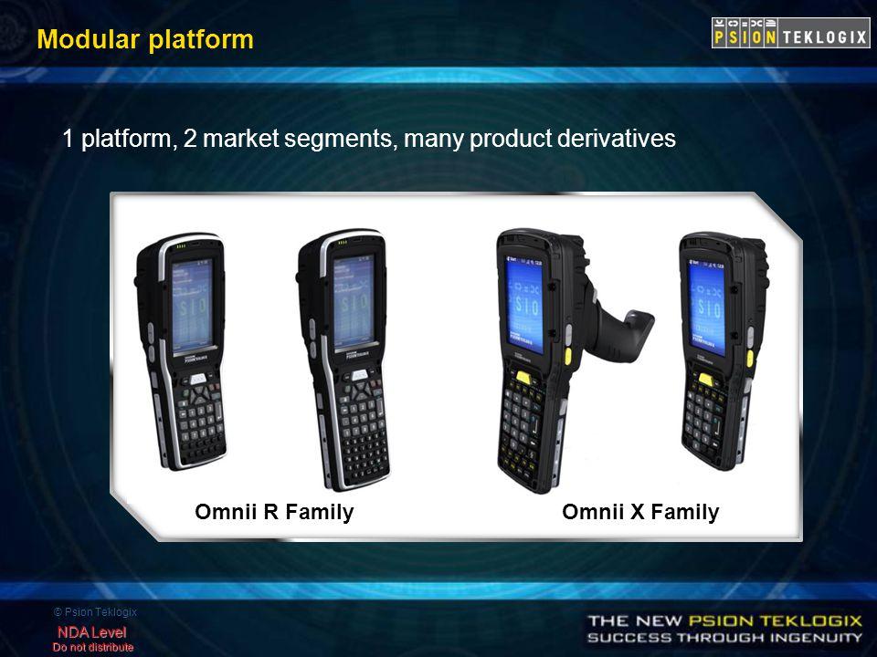 © Psion Teklogix NDA Level Do not distribute Modular platform 1 platform, 2 market segments, many product derivatives Omnii R Family Omnii X Family