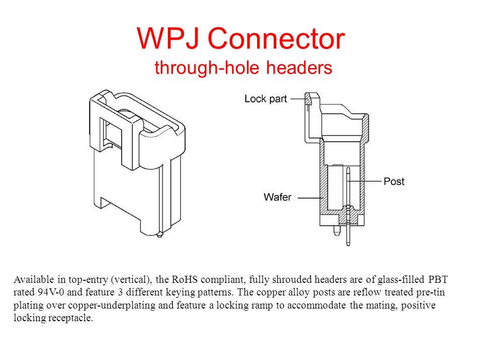 THE WPJ SERIES IS ENGINEERING & MANUFACTURING FREINDLY Applicators are available for semi-automatic and fully automatic termination equipment normally found in the manufacturing environment as well as standard hand tools and contact extraction tooling (insertion tooling is not required for the WPJ series contacts.
