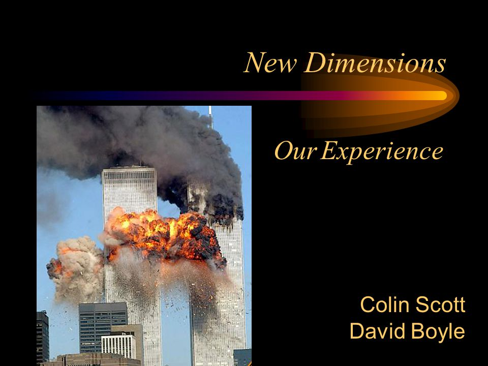 New Dimensions Our Experience Colin Scott David Boyle